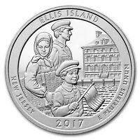 2017 5 OZ SILVER AMERICA THE BEAUTIFUL ATB ELLIS ISLAND NATIONAL MONUMENT NJ