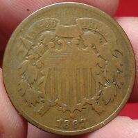 1867 TWO CENT PIECE GREAT 2C TYPE COIN 1