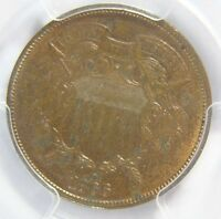 1866 TWO CENT PCGS MINT STATE 63 RB CERT 24038424