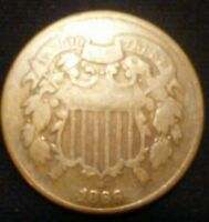 1866 US TWO CENT PIECE,