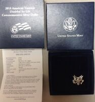 2010 W AMERICAN VETERANS DISABLED FOR LIFE SILVER PROOF DOLLAR COIN SET