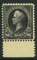 US BUREAU, WATERMARKED $1 SC 276A $3750 MINT NH