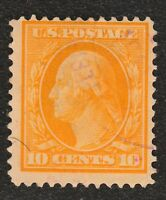 US STAMPS SCOTT 364 WITH CERTIFICATE  1909 10C BLUISH PAPER ISSUE USED