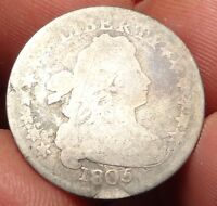 1805 DRAPED BUST DIME ABOUT GOOD AG 4 BERRIES EARLY 10C TYPE COIN
