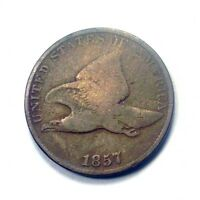 1857 P FLYING EAGLE SMALL COPPER CENT GRADE GOOD 1A011