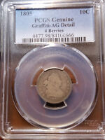 1805 BUST DIME 4 BERRIES 10C AG PCGS      11279-235