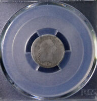 1795 H10C FLOWING HAIR HALF DIME DAMAGE LM 10 PCGS GENUINE AG DETAILS 32825079