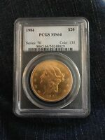 LOT OF 8   1904 $20 LIBERTY HEAD GOLD COIN DOUBLE EAGLE PCGS MS64