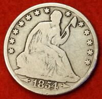 1854 O SEATED LIBERTY HALF DOLLAR G BEAUTIFUL COIN CHK OUT STORE SH27