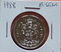 1988 CANADIAN 50 CENTS  MS 65 NC