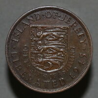 ISLAND OF JERSEY PENNY 1/12 SHILLING 1945 GEORGE VI   A3