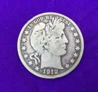 1912  BARBER HALF DOLLAR SILVER FOR YOUR COLLECTION CHEAP PRICING BUY IT NOW