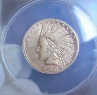 1910 S $10 GOLD INDIAN HEAD   ANACS XF45    SAN FRANCISCO MINT