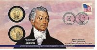 10 SEALED 2008 P25 P&D US MINT PRESIDENTIAL MONROE DOLLAR FIRST DAY COIN COVER
