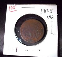 1868 TWO CENT PIECE CIRCULATED  CLEAR DATE