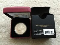 2014 CANADA WORLD MONEY FAIR WMF PRIVY MAPLE LEAF 1 OZ SILVER REVERSE PROOF COIN