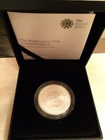 SHAKESPEARE ROYAL MINT 2016 1 OZ SILVER PROOF COIN UNITED KINGDOM ONLY 1000 UK