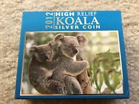 2012 AUSTRALIA HIGH RELIEF KOALA   1 OZ SILVER PROOF COIN PERTH MINT