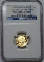 2008 W $5 GOLD BUFFALO NGC PF70 ULTRA CAMEO EARLY RELEASES