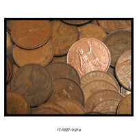 LOT OF FIFTY GREAT BRITAIN LARGE PENNIES