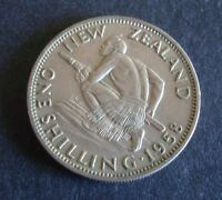 NEW ZEALAND   1958   ONE SHILLING COIN