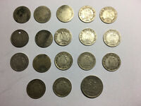 INTERESTING ACCUMULATION OF OLD SILVER COINS FROM CEYLON  SR