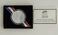 2010 AMERICAN VETERANS DISABLED FOR LIFE UNCIRCULATED SILVER DOLLAR