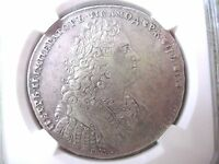 RUSSIA  ORIGINAL  SILVER 1 ROUBLE 1728 PETER II