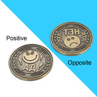 COMMEMORATIVE COINS SMILE UNHAPPY FACE CHALLENGE COLLECTIBLE CRAFT XMAS GIFTS