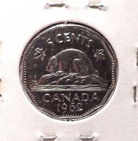 CIRCULATED 1962 5 CENT CANADIAN COIN