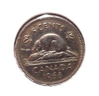 CIRCULATED 1968 5 CENT CANADIAN COIN