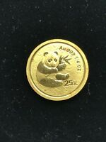 2000 CHINA GOLD PANDA COIN 1/4 OZ / 25 YUAN PANDA GOLD FROSTED