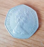 1983 OLD LARGE 50 PENCE  COIN..CIRCULATED