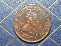 1906 CANADIAN LARGE PENNY KING EDWARD VII LOT BX120