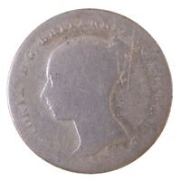 1843 BRITAIN UK ENGLAND 4 PENCE FOURPENCE GROAT SILVER COIN
