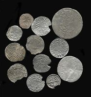 OLD MEDIEVAL SILVER COINS   1100 TO 1500AD   KNIGHTS TEMPLAR   OTHERS   CRUSADES