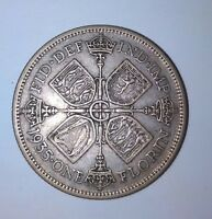1935 GREAT BRITAIN ONE FLORIN SILVER GEORGE V EXCELLENT COND