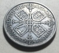 GREAT BRITAIN  UK  1931 ONE FLORIN  TWO SHILLINGS  SILVER CO
