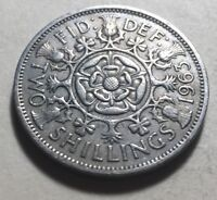 GREAT BRITAIN  UK  1963 ONE FLORIN  TWO SHILLINGS  COIN   QU
