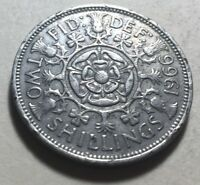 GREAT BRITAIN  UK  1966 ONE FLORIN  TWO SHILLINGS  COIN   QU