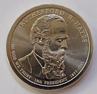 2011 P $1 WEAK EDGE LETTERING HAYES POSITION A PRESIDENTIAL DOLLAR FREE DOMESTIC