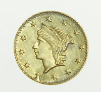 NO DATE LIBERTY HEAD CALIFORNIA FRACTIONAL GOLD ROUND 1/4 DOLLAR COIN  WOW