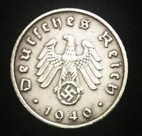 ANTIQUE GERMAN WW2  5PF COIN WITH BIG EAGLE AUTHENTIC   ARTIFACT