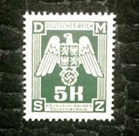 OLD ANTIQUE AUTHENTIC WWII EAGLE UNUSED GERMAN STAMP   5K