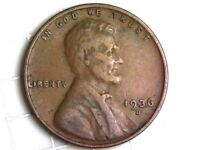 1936-D LINCOLN WHEAT CENT PENNY COIN W96