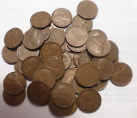 1948 P LINCOLN WHEAT CENT CENT ROLL OF 50 CIRCULATED COINS - SHIPS FREE