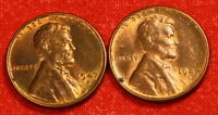 1947-D&S LINCOLN WHEAT CENT PENNY RED/BRN BU  COLLECTOR COIN GIFT LW600