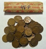 1948-P ROLL OF LINCOLN WHEAT CENT COIN PENNY AVERAGE CIRCULATED SOLID DATE ROLL