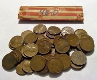1948-D ROLL OF LINCOLN WHEAT CENT COIN PENNY AVERAGE CIRCULATED SOLID DATE ROLL