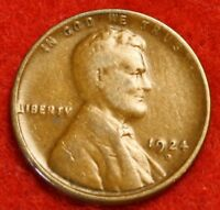 1924-D 1C LINCOLN WHEAT CENT PENNY F COLLECTOR COIN CHECK OUT STORE LW1805